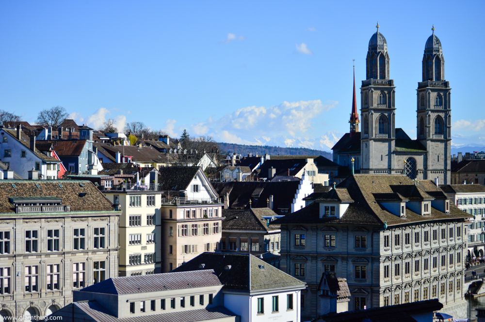 view from the top in zurich